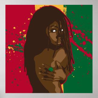 Chica de Rasta Posters