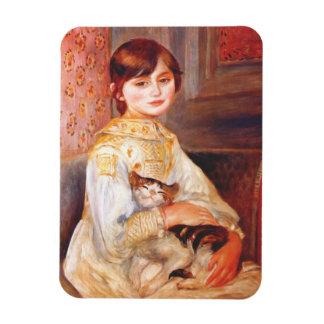 Chica de Renoir con el imán del gato