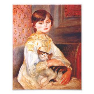 Chica de Renoir con la impresión del gato Foto