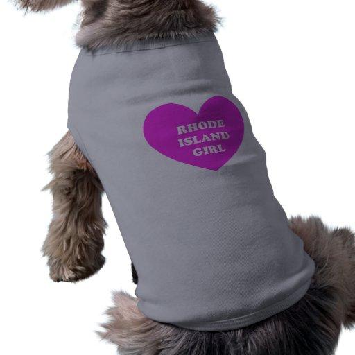 Chica de Rhode Island Camisetas De Mascota
