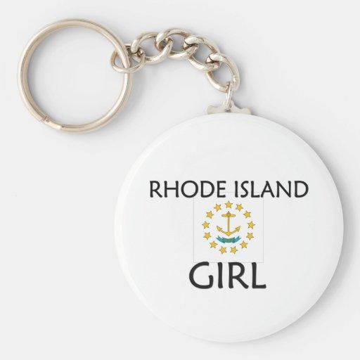 CHICA DE RHODE ISLAND LLAVERO REDONDO TIPO PIN