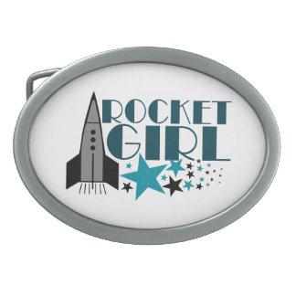 Chica de Rocket Hebillas Cinturon Ovales