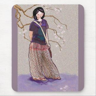 Chica de Sakura Tapetes De Raton