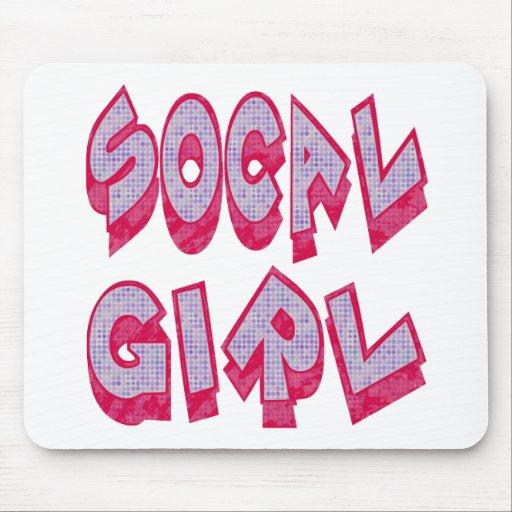 Chica de SoCal Alfombrillas De Raton