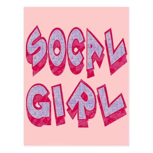 Chica de SoCal Tarjetas Postales
