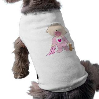 Chica de Soother del bebé Playera Sin Mangas Para Perro