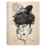 Chica de Steampunk Cuaderno
