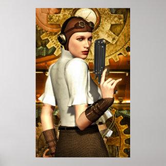 Chica de Steampunk Póster
