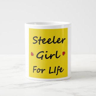 Chica de Steeler para la taza de la vida Taza Grande