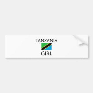 CHICA DE TANZANIA ETIQUETA DE PARACHOQUE
