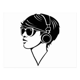 Chica de Techno Tarjetas Postales