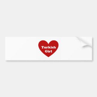 Chica de Turquía Pegatina Para Auto
