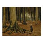 Chica de Van Gogh en la bella arte de maderas (F8a Postal