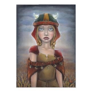 """Chica de Viking Invitación 5"""" X 7"""""""