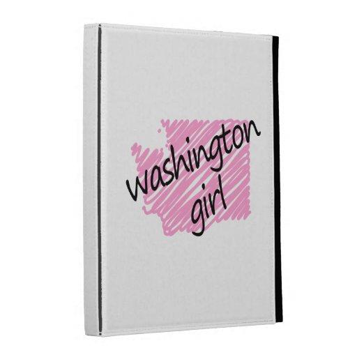 Chica de Washington con el mapa garabateado de Was