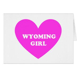 Chica de Wyoming Tarjeta De Felicitación