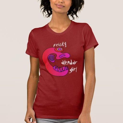 Chica decidido del calendario t shirts