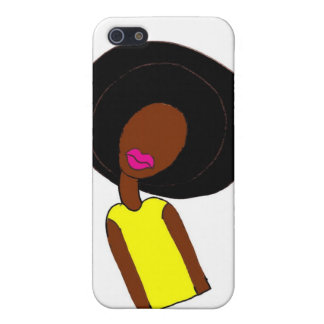 Chica del Afro iPhone 5 Protectores