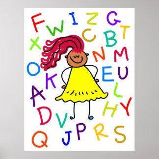Chica del alfabeto póster