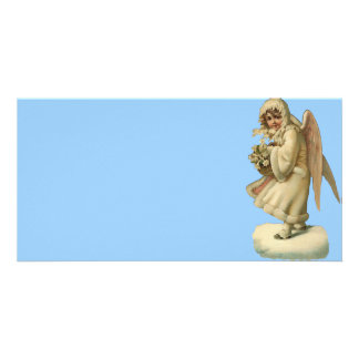 Chica del ángel del navidad del Victorian Tarjeta Fotográfica Personalizada