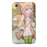 Chica del animado en Fox Cosplay iPhone 3 Protector