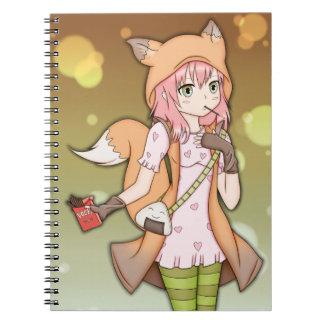 Chica del animado en Fox Cosplay Notebook