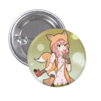 Chica del animado en Fox Cosplay Pin Redondo De 1 Pulgada