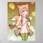 Chica del animado en Fox Cosplay Poster