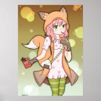 Chica del animado en Fox Cosplay Póster