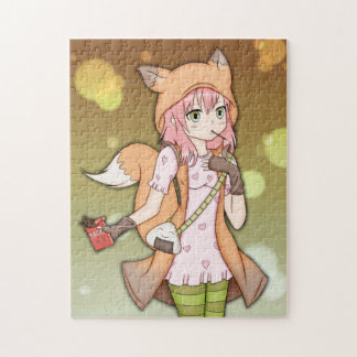 Chica del animado en Fox Cosplay Puzzle