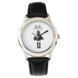 Chica del animado relojes de mano