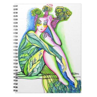 Chica del árbol libretas espirales