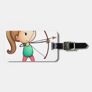 chica del archer etiqueta de equipaje
