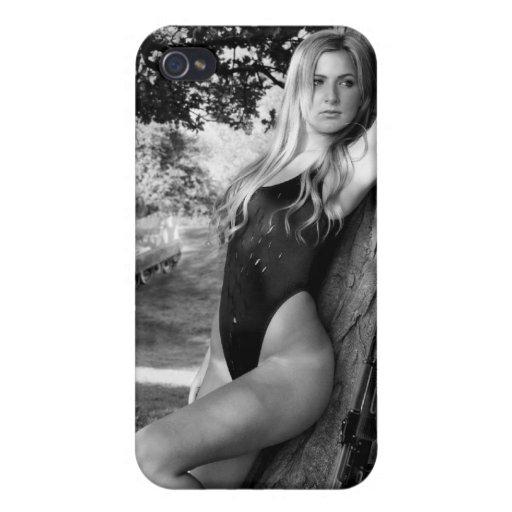 Chica del arma iPhone 4 cárcasa