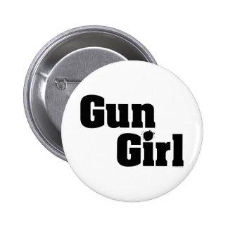 Chica del arma pin redondo 5 cm