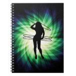 Chica del aro de Hula; Fresco Libros De Apuntes