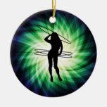 Chica del aro de Hula; Fresco Ornamento De Navidad