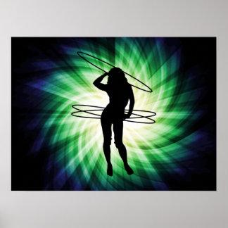 Chica del aro de Hula; Fresco Póster