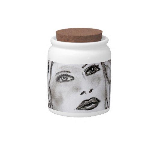 Chica del art déco jarras para caramelos