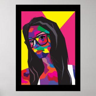 chica del arte pop impresiones