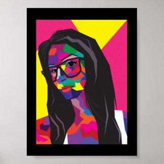 Chica del arte pop posters
