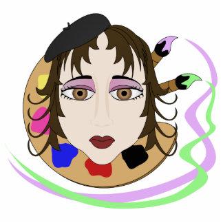 Chica del artista con los ojos de Brown Esculturas Fotograficas