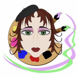 Chica del artista con los ojos verdes esculturas fotograficas