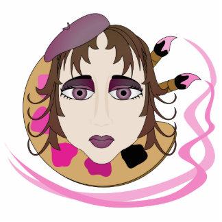 Chica del artista en rosa escultura fotografica