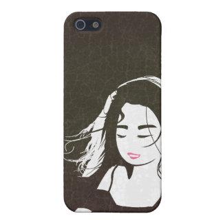 Chica del artista iPhone 5 carcasas
