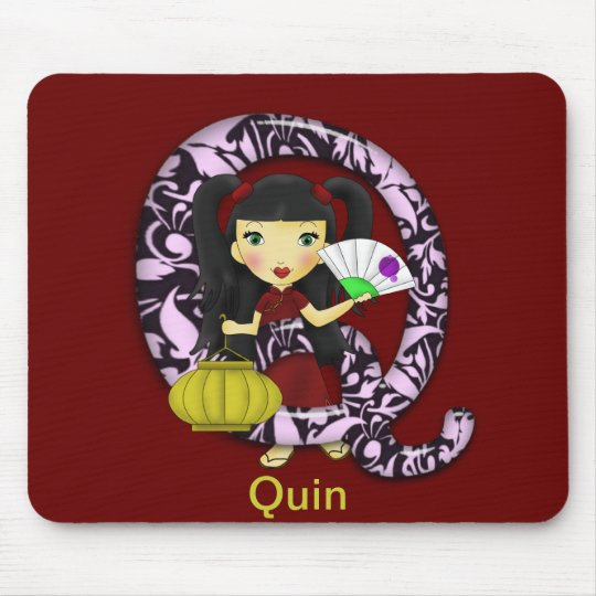 Chica del asiático de Q Mousepad