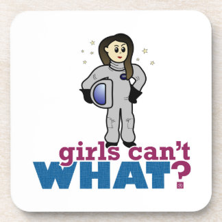 Chica del astronauta posavaso