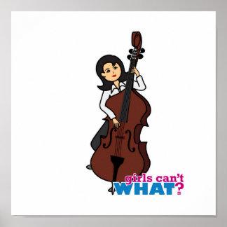 Chica del bajista de secuencia - medio póster