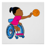 Chica del baloncesto impresiones