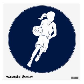 Chica del baloncesto que gotea vinilo decorativo